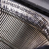 Closeup of old typewriter letters Royalty Free Stock Photography