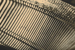 Closeup of old typewriter letters Stock Photography