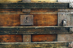 Closeup old vintage chest Royalty Free Stock Photography