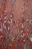 Eathered wood with red paint background Royalty Free Stock Images