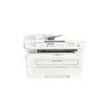 Closeup old white photocopier in the office , office supplies isolated on white background Stock Image