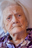 Closeup of an old woman Royalty Free Stock Photo