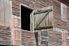 Closeup of old wood barn Stock Photos
