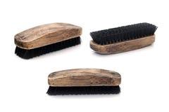 Free Closeup Old Wood Shoebrush Isolated On White Background Stock Images - 134900014