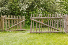 Closeup of old wooden fence Royalty Free Stock Photo