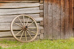 Closeup of old wooden wheel Stock Photos