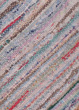 Closeup of old worn-out rag rug Stock Photography
