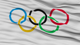 Closeup Olympic Flag Royalty Free Stock Image