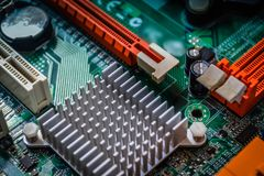 Free Closeup On Electronic Board In Hardware Repair Shop, Blurred And Toned Stock Photography - 116175052