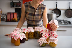 Free Closeup On Housewife Checking Jars  In Kitchen Royalty Free Stock Photo - 50899195