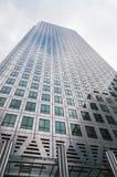 Closeup of One Canada Square skyscraper Stock Photography