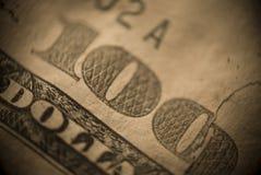 Closeup one hundred dollar texture Stock Photos