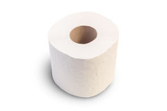 Closeup of one toilet roll Stock Image