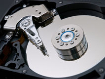 Closeup open hard drive Royalty Free Stock Image