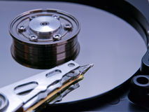 Closeup open hard drive Stock Images