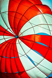Closeup open parachute in the blue sky Royalty Free Stock Photography