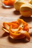 Closeup of orange peel Stock Photo