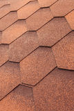 Closeup of orange Shingle roof background. Royalty Free Stock Photos
