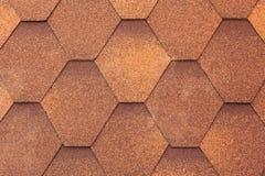 Closeup of orange shingle roof background. Stock Photography