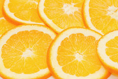 Closeup of orange slice Royalty Free Stock Photography