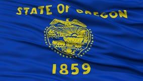 Closeup Oregon Flag, USA state Royalty Free Stock Images