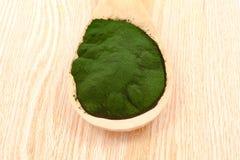 Closeup  organic spirulina algae Royalty Free Stock Image