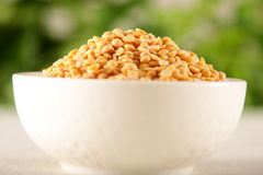 Closeup of organic ,unpolished Toor dal, famous Indian legume Royalty Free Stock Images