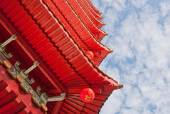 Closeup of Oriental architecture Stock Photo