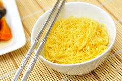 Closeup of oriental noodles Royalty Free Stock Photos