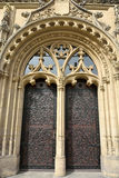 Closeup of ornate portal door of magistrates' court building Amtsgericht Magdeburg in Magdeburg Stock Images