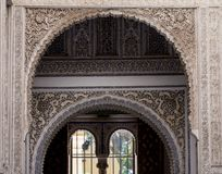 Closeup of ornate wall in Alhambra palace. Spain stock images