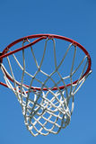 Closeup of outdoor basketball hoop Royalty Free Stock Photo