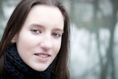 Closeup outdoor portrait of a pretty young woman Royalty Free Stock Photo