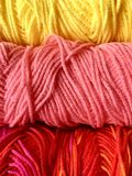 Spring Colors Yarn royalty free stock images
