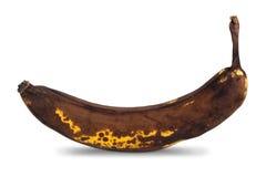 Closeup of an overripe banana with shadow Royalty Free Stock Photos