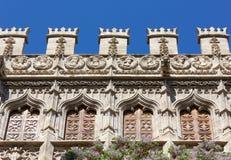Closeup på den siden- marknadsslotten i Valencia Royaltyfri Foto