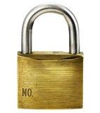 Closeup of padlock. On white background Royalty Free Stock Photos