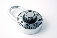 Closeup of Padlock stock image