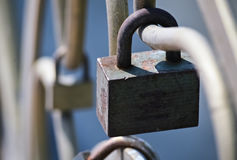 Closeup of a padlock Stock Image