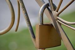Closeup of a padlock Stock Photos