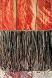 Closeup paint brush bristles background Royalty Free Stock Image