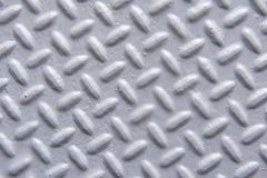 Closeup of Painted Metal Surface with Herringbone Pattern Royalty Free Stock Photography