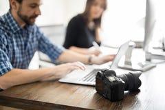 Creative team retouching photos Royalty Free Stock Photos