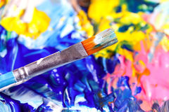 Closeup of palette. Royalty Free Stock Photos