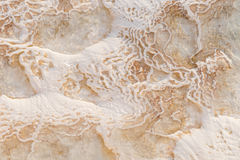 Closeup of Pamukkale in Turkey Royalty Free Stock Image