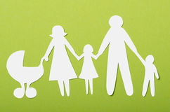 Closeup of paper family Royalty Free Stock Images