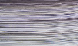 Closeup of paper stack texture Royalty Free Stock Images