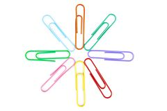 Closeup of paperclips Stock Image