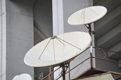 Closeup of parabolic antennas Stock Photography