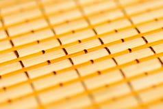 Closeup part of handicrafts bamboo rug Stock Image